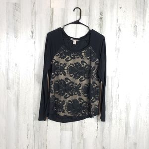5/$25 Forever 21 lace long sleeve shirt size M
